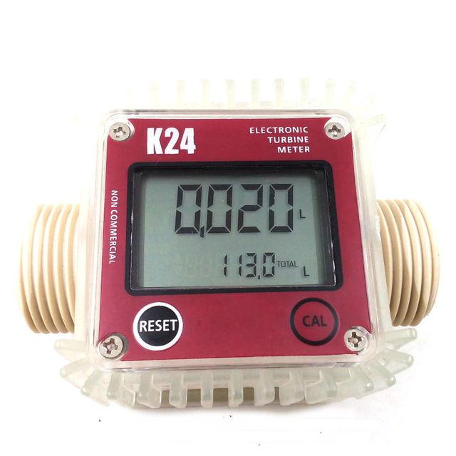 K24 turbo digital flow meter flowmeter Diesel fuel water plomeria flow indicator protable Turbine Flowmeter caudalimetro sensor