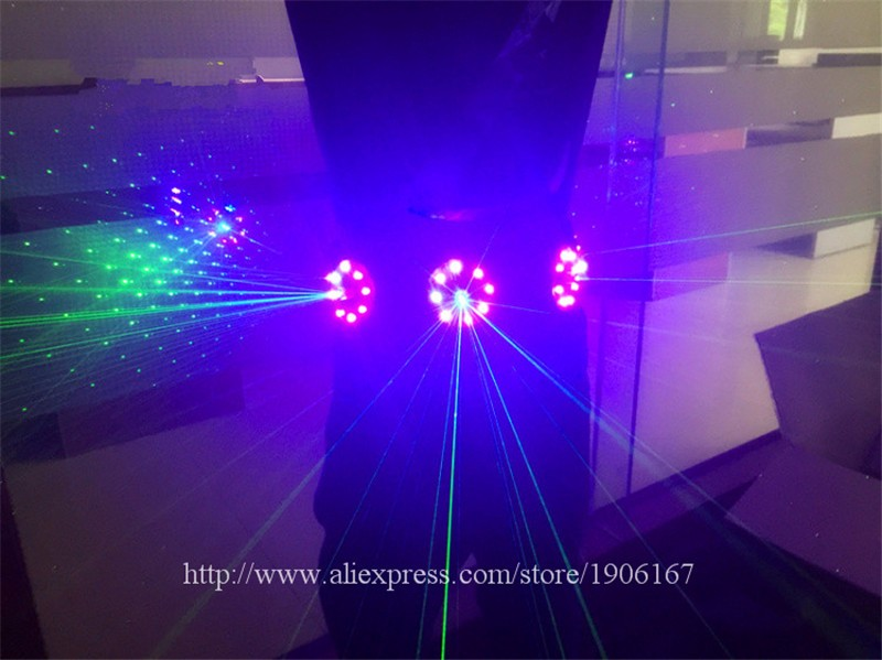 Colorful led green laser belt waistband girdle 08