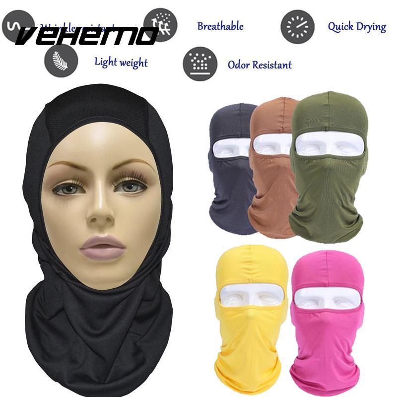 Vehemo аксессуары для улицы полная мотоциклетная маска для защиты лица шапки унисекс 14 цветов Практичная Балаклава лайкра защита удобный