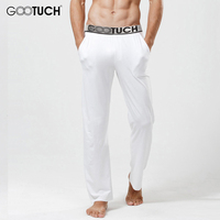 Men S Pajamas Pants Sexy Sleepwear See Through Pajamas Pants Male Long Johns Trousers Man Modal