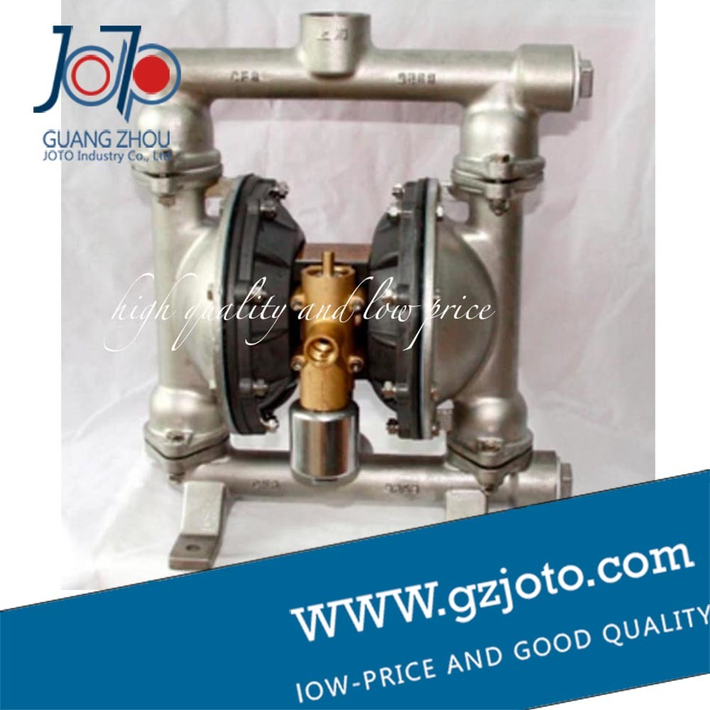 QBY-25 Natural Colour 304 stainless steel pneumatic diaphragm pump with F46 diaphragm