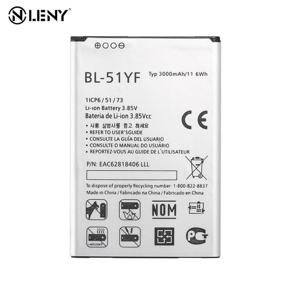 3000mAh Battery For LG G4 H818 H815 H819 H810 BL-51YF Rechargeable Li-ion Internal Battery Mobile Phone Battery for LG G4