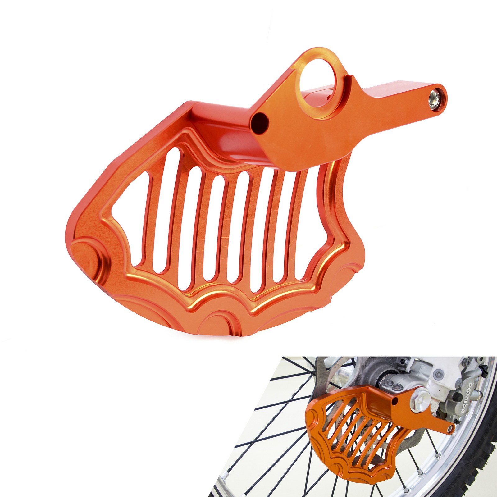 Motorcycle Front Brake Disc Rotor Guard For KTM 125 200 250 300 350 400 450 500 EXC EXCF SX XC XCF XCF XCW XCFW 2016 2017 2018 motorcycle front and rear brake pads for ktm xc exc 200 2004 2008 xc exc 250 400 450 2004 2007 sintered brake disc pad