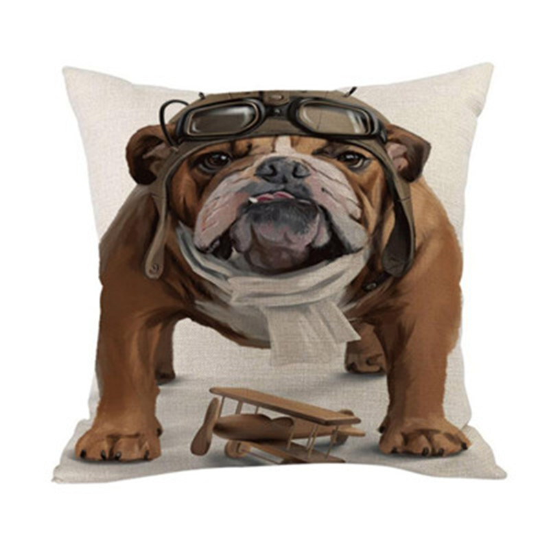 Cushion Cover Valentine's Day Gift Cute Dog Horror Bones