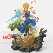 Anime Dragon Ball Z  Vegetto Son Goku Vegeta Action Figure Dragonball Super Saiyan Figuras PVC Model Toys 23cm
