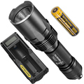 2017 Nitecore Tiny Monster TM03 4xCREE XHP70 LED 2800 Lumens Tactical flashlight with 18650 Battery Hunting Fishing+UM10 Charger