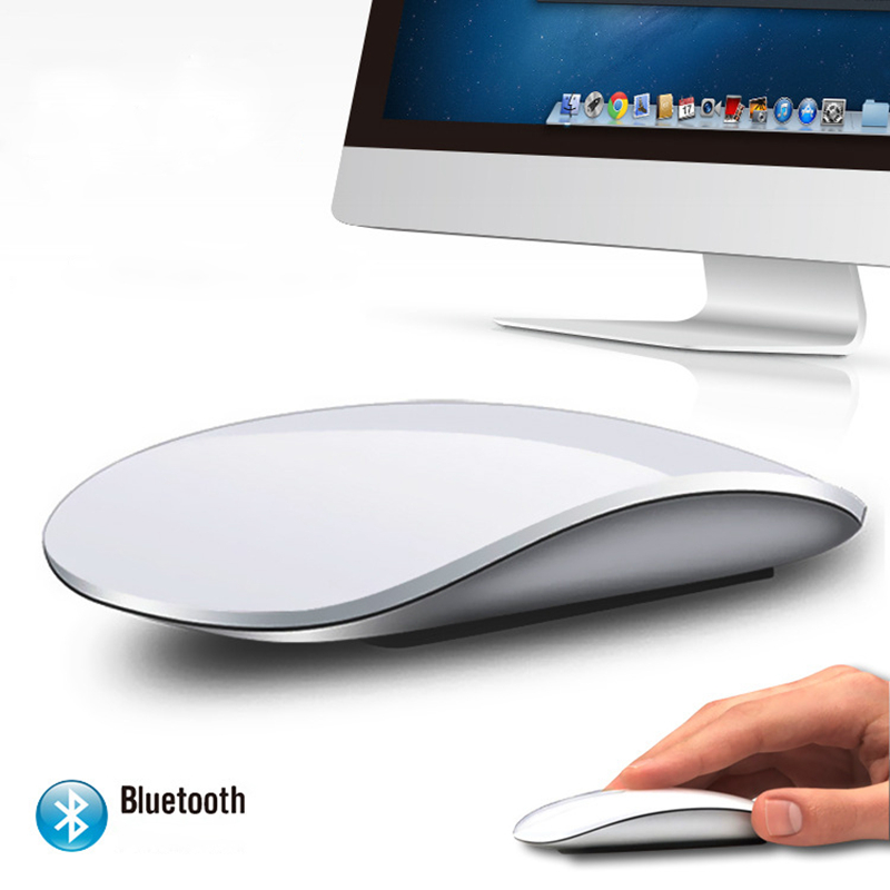 цена Magic Mouse 2 Bluetooth Wireless game Mouse Touch Wheel PC Ultra Slim fashion for Apple style MAC 2.4g desktop computer keyboard