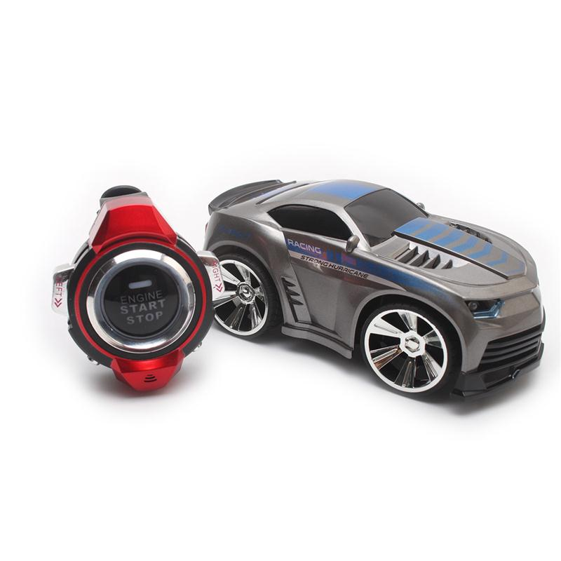 Mini 4 Channels RC Car With Smart Watch Voice Control Remote Control Cars On The Radio RC Toys For Children