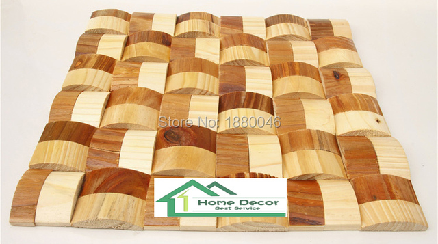Us 161 0 Curve Design Art Mosaic For Decoration Wall Tile 3d Pine Wood Mosaic Wall Panel Decorative Interior Wall Plank In Wall Stickers From Home