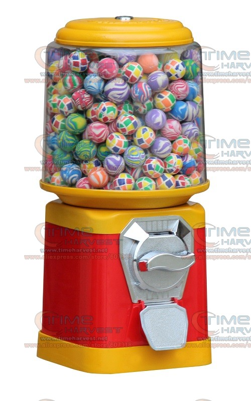 Good Quality Coin Operated Tabletop Gumball Vending Machine Desktop Capsule Vending Cabinet Toy Penny-in-the-slot Coin Vendor high quality coin operated slot machine for toys vending cabinet capsule vending machine big bulk toy vendor arcade machine