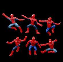 6Pcs/Set Mini Spider Man Figure Spiderman Superhero PVC Action Figure
