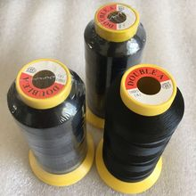 Needle thread kit 50 rolls Black Polyester Hair Weaving Thread with gift 1 piece C curved needle