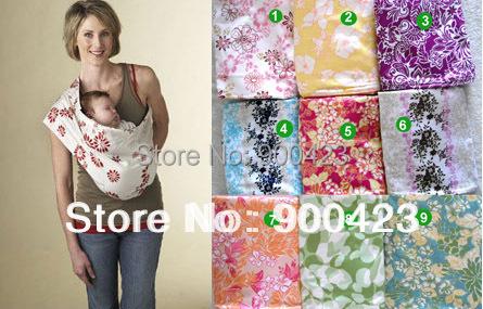 Nuevos diseños, 12 patrones, dos capas de material con estampados, Portabebés bebé lleve y eslingas bolsa 3 tamaños, de algodón