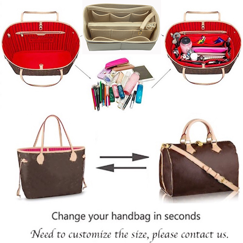 For Goy ard St Louis PM MM GM Customized 3MM Felt Handbag Organizer Bag In Bag Wool Wallet insert Tote Organizer Insert Diape in Cosmetic Bags Cases from Luggage Bags