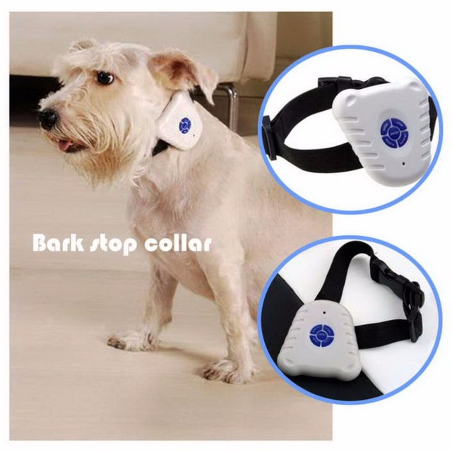 Electric Ultrasonic Anti-Barking Dog Training Device Barking Stop Control collar For Light weight Dog with LED indicator