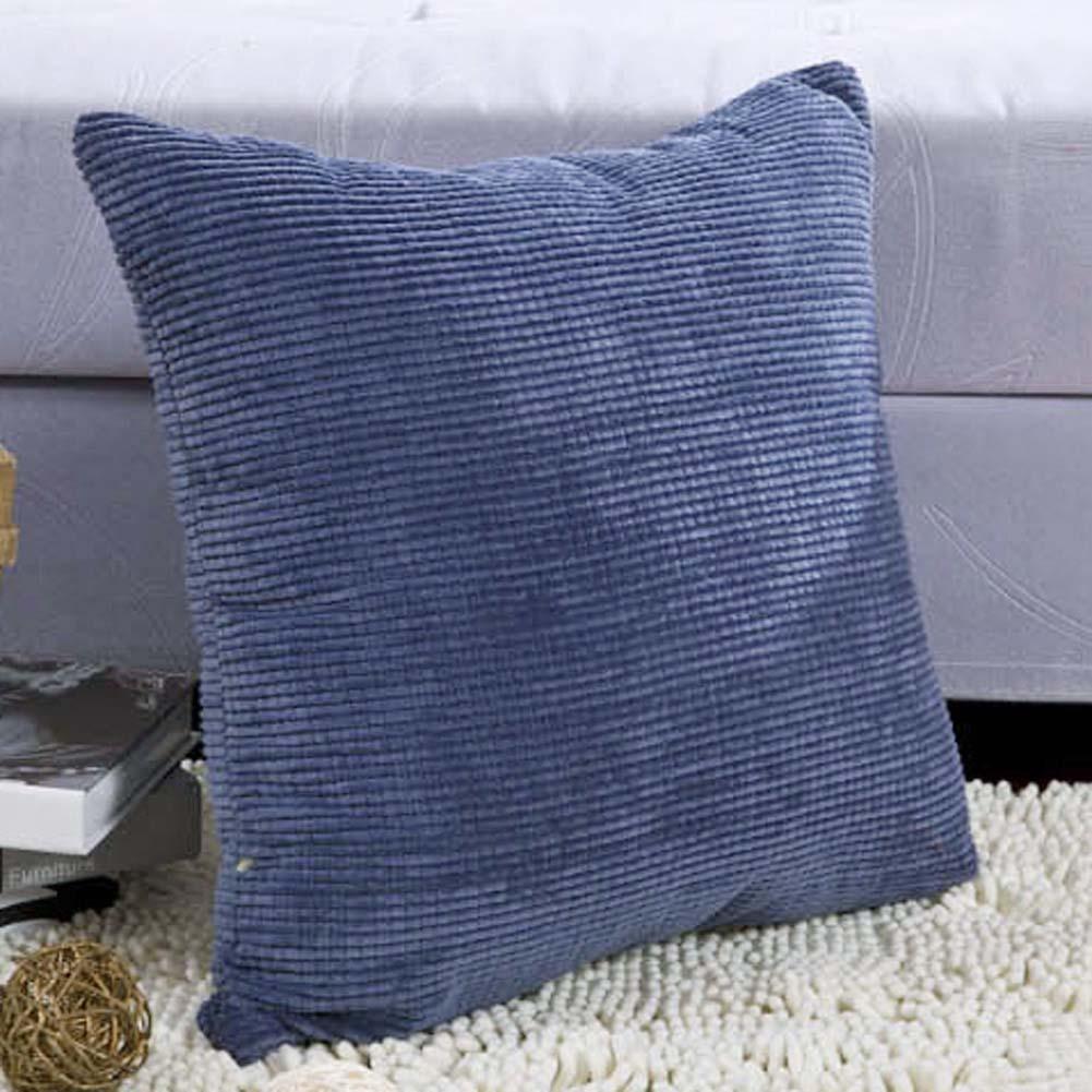 Consegna Veloce Pillow Case Cuscino Chicchi Di Mais Velluto A Coste Abbellire Tiro Copertura Di Piazza 45 Cm Bule Poliestere Di Alta Qualità 45 Cm * 45 Cm Vendendo Bene In Tutto Il Mondo