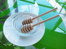 10 4 x2 4cm Wooden Honey Dippers Wood Honey Spoon Stick Wedding Favors Welcome customize