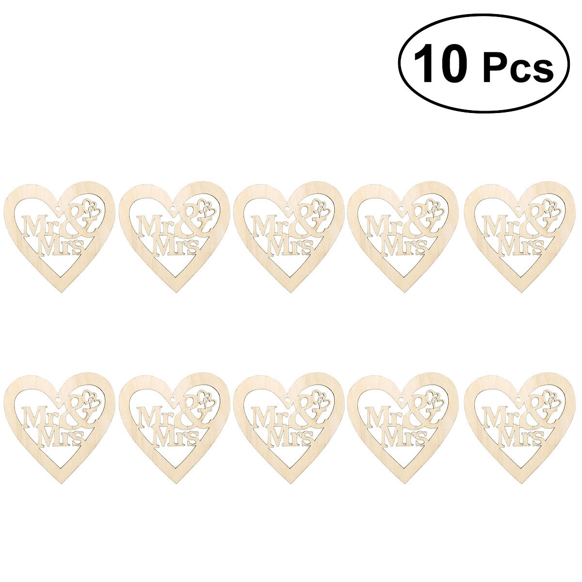 Us 1 63 39 Off 10pcs Hollow Wooden Love Heart Shape Hanging Ornament Rustic Wedding Decoration Scrapbooking Crafts Home Decor With String In Wood