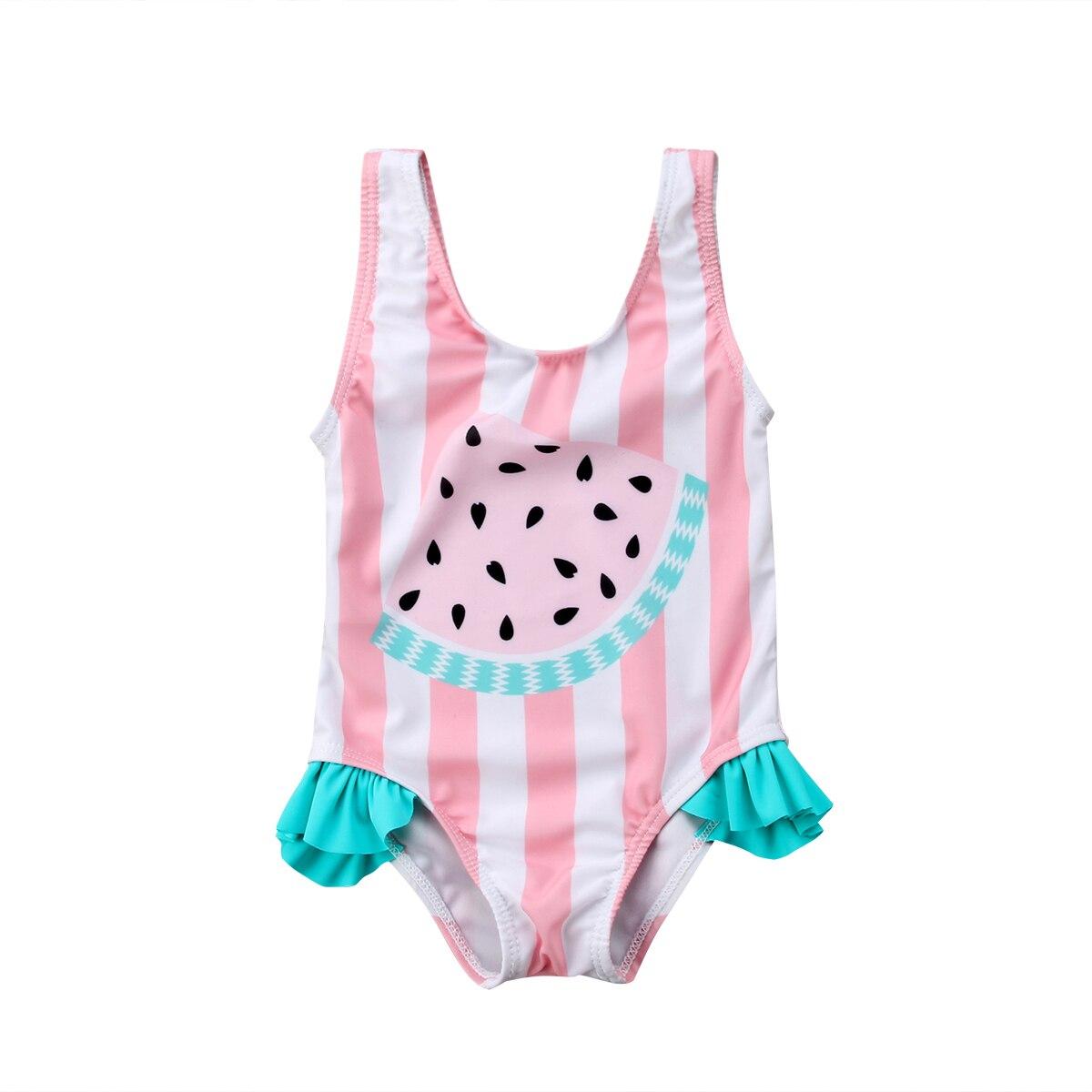 Newborn Kids Baby Girls Watermelon Swimsuit Swimwear Swimming Bikini Beachwear