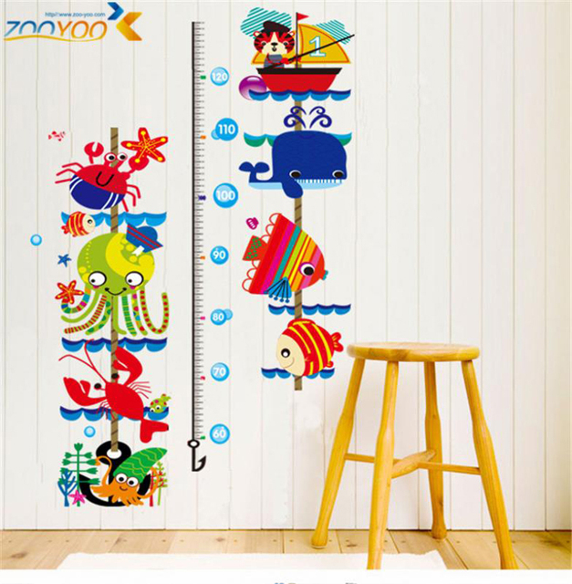 diy boat fish pirate ship height chart removable wall sticker decals