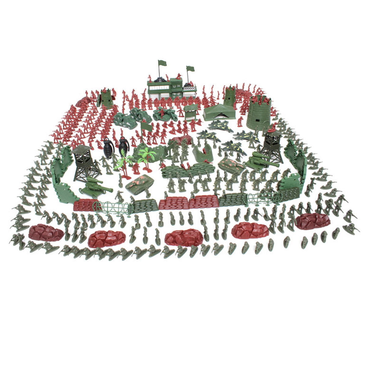 500PCS Military Playset Plastic Toy Soldiers Army Men 4cm Figures Christmas Gift