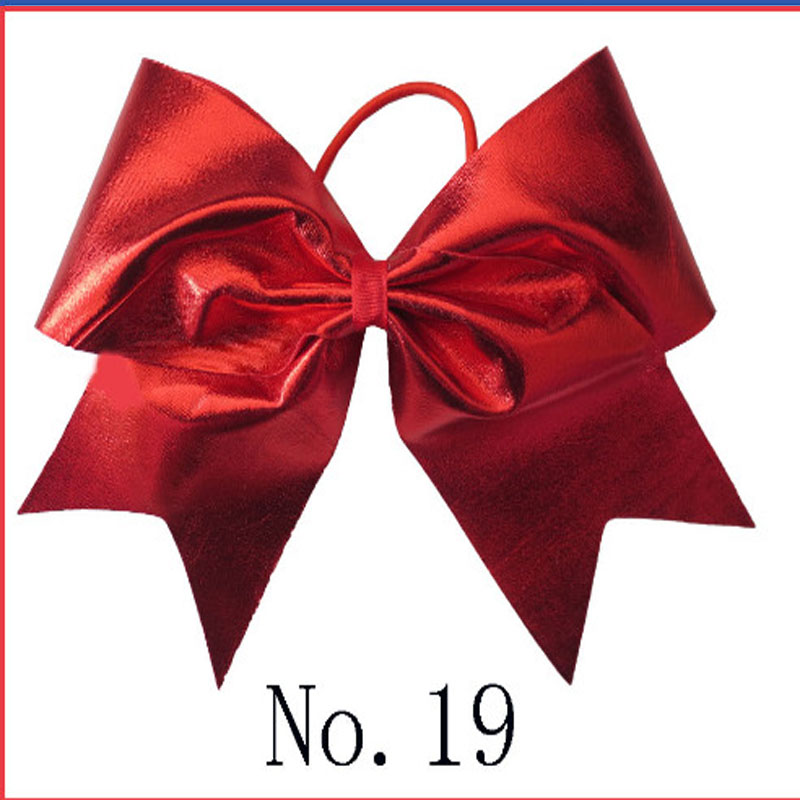 10 BLESSING Good Girl 7 Inch Spangle Cheer Leader Bow Elastic Flash Wholesale