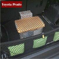 Car Stowing Tidying Mesh String Bag For Toyota Land Cruiser Prado Accessories FJ 150 2700 4000