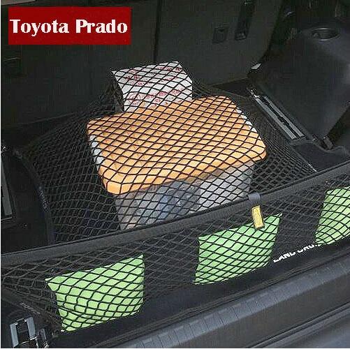 Car Stowing Tidying Mesh String Bag For Toyota Land Cruiser Prado Accessories FJ 150 2700/4000 2010-2014 3m oem car body sticker for toyota land cruiser prado fj 150 accessories