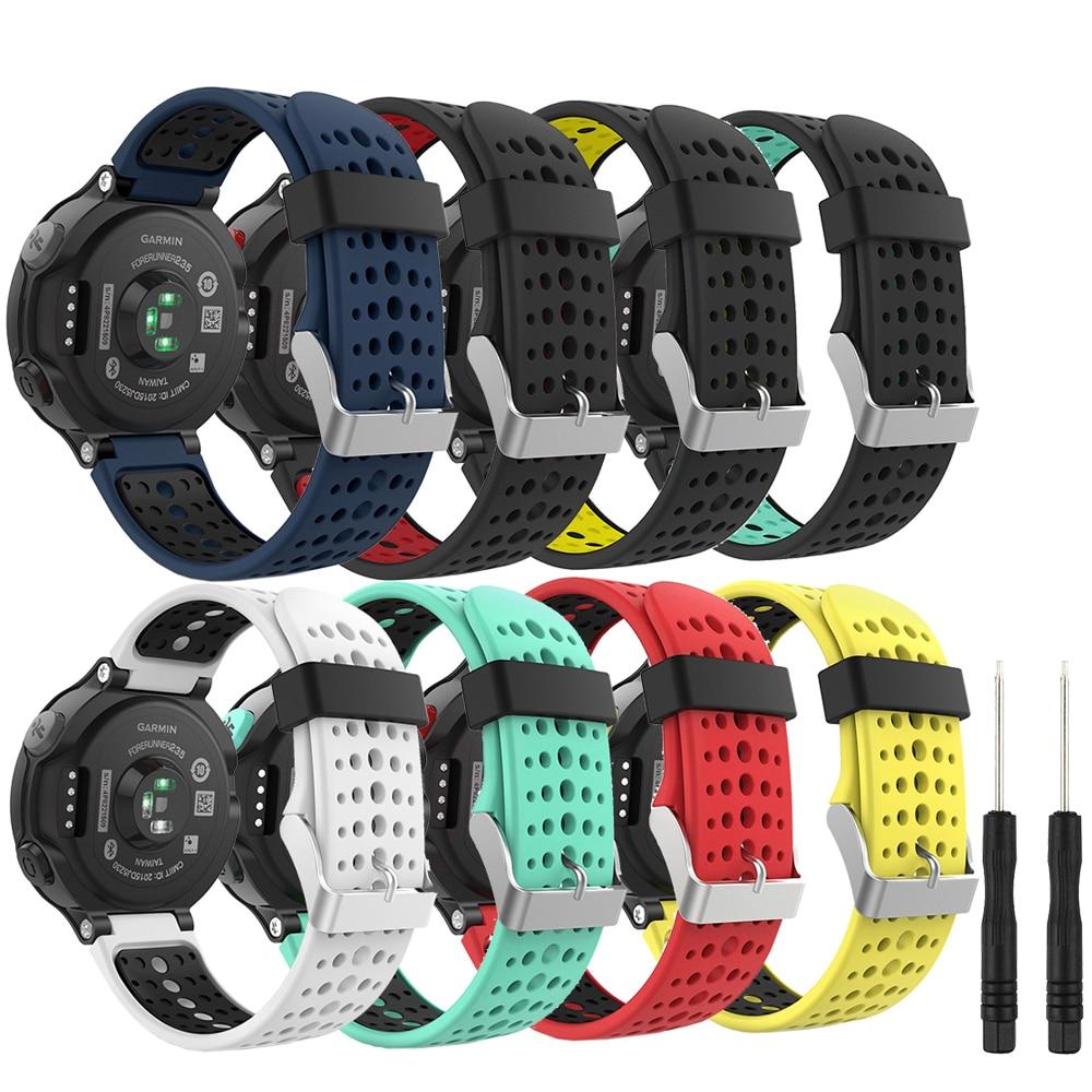 For Garmin Forerunner 235 Band Silicone Strap Bracelet For Garmin Forerunner 220/230/235/620/630/735XT/235Lite Accessory