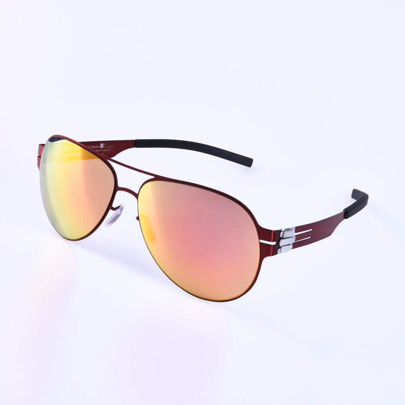 Pilot Stainless Steel Eyewear multi-color lens Sunglasses for men and women Driving Sunglass travling