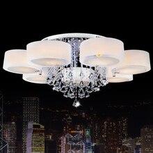 remote control crystal ceiling light modern led kitchen lamp for living room bedroom  lights Lustre for Home Decor lighting