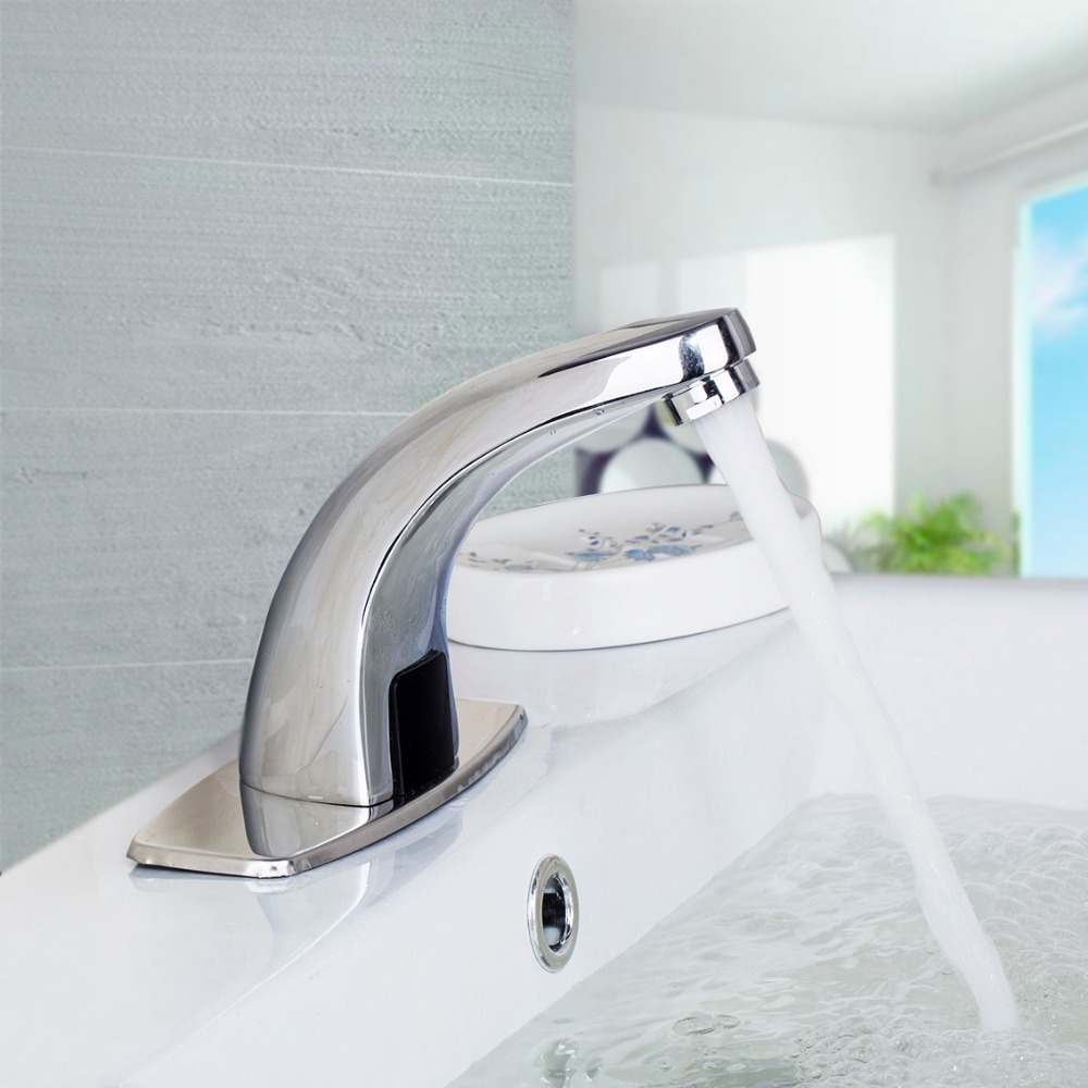Free touchless Automatic inflared Sensor Faucet for bathroom Sink water saving Inductive electric Water Tap mixer free shipping new discount countertop bathroom automatic sensor faucet for hotel home water saving tap zr6130