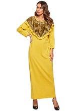 Amarillo Vestido Compra De Terciopelo Promoción kP8OXn0Nw