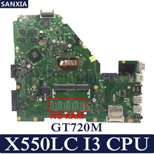 KEFU X550LC Laptop motherboard for ASUS X550LC X550LD X550LN Test original mainboard NO RAM I3-CPU GT720M