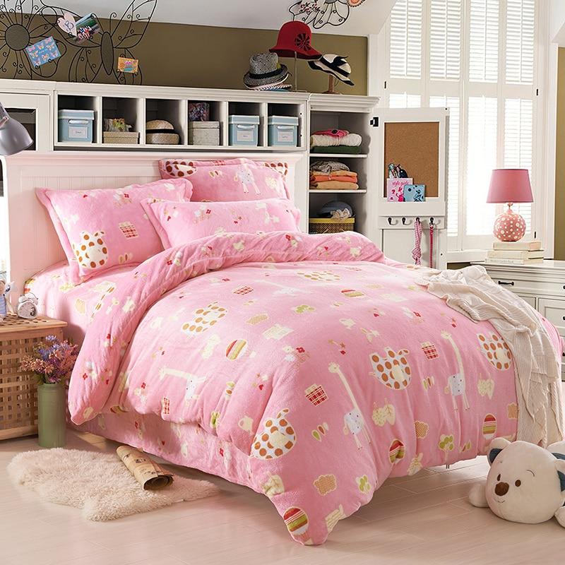 pink bedspread girls and kids bedding set designer ...