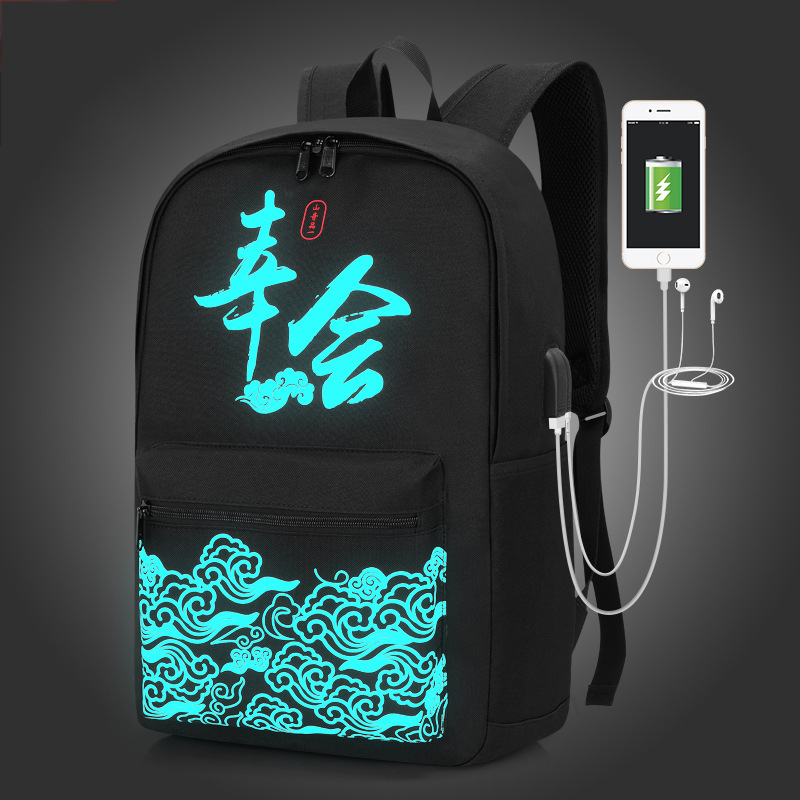 USB charging new unisex Luminous schoolbag For teenage teenagers bookbag backpack to school bag Student book bag for boys girls