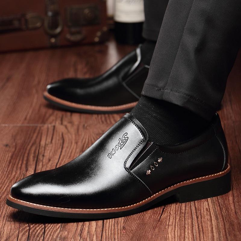 Men Dress Shoes Plush Winter Shoes Men