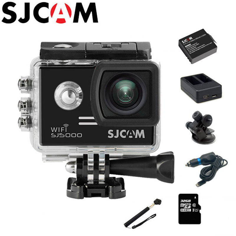 цена на SJCAM SJ5000 WiFi Action Camera 1080P Full HD 2 inch Screen Diving 30M Waterproof mini Camcorder Original SJ 5000 Cam Sports DV