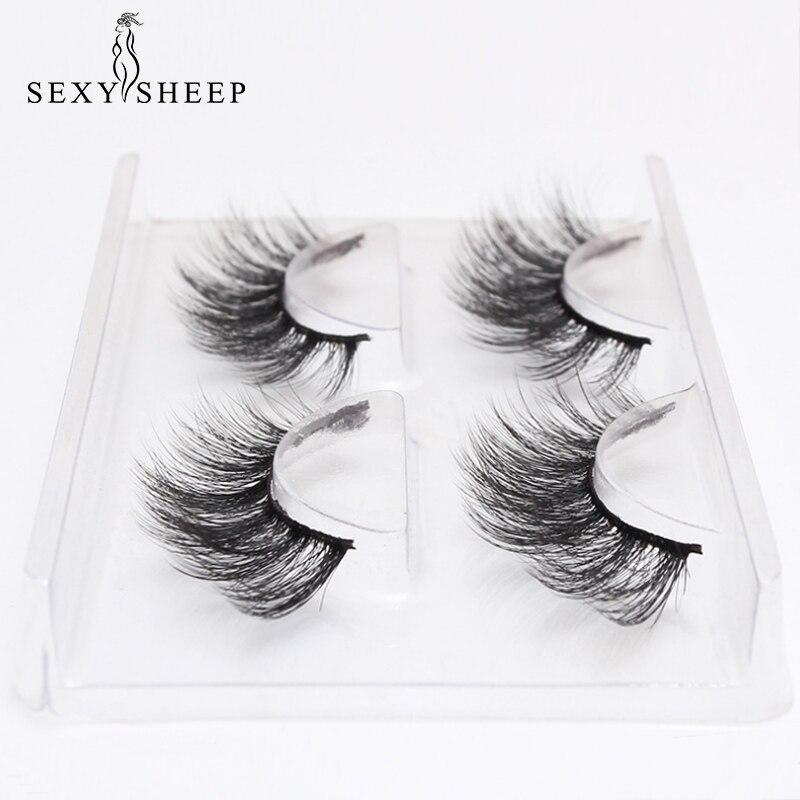 SEXYSHEEP 2 pairs natural false eyelashes fake lashes ...