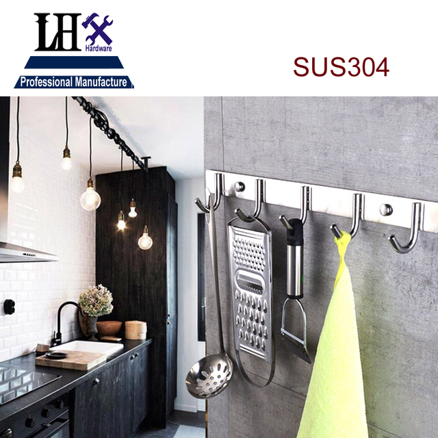 Kitchen Wardrobe Accessories: LHXYP277 Hook 304 Stainless For Women Dress Men Bag