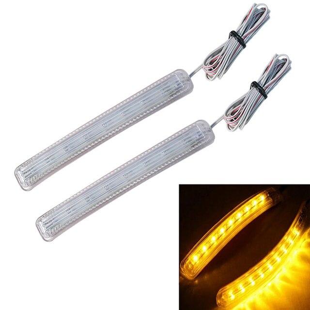 auto styling led auto lichtbalk amber wit auto led verlichting auto achteruitkijkspiegel fpc knipperlichten bar