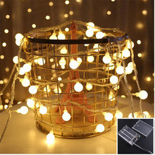 3M LED Ball holiday String Light 20 LED lamps Fairy Night Lights For Christmas Tree Wedding Party home Decortion Garland Xmas недорого