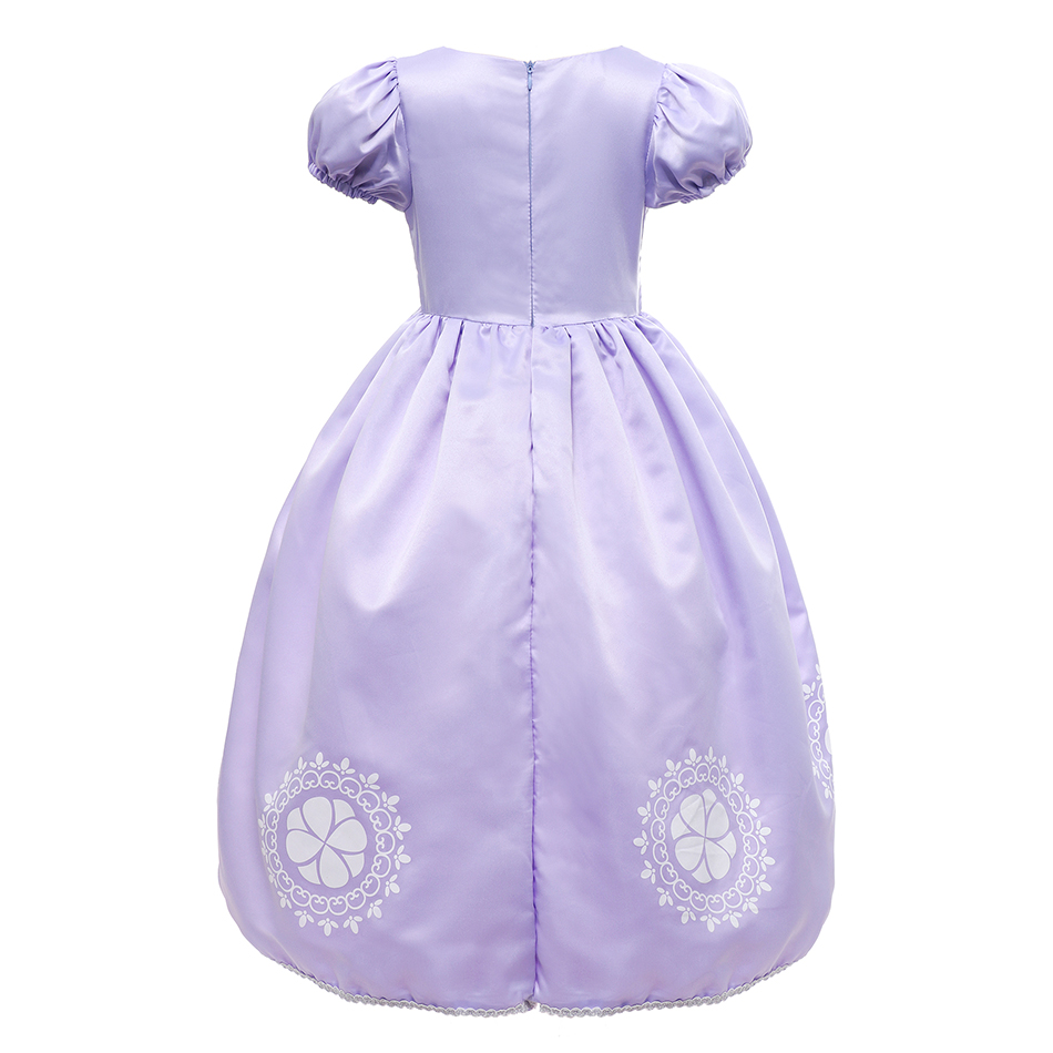 PaMaBa Fancy Girls Sofia the First Clothes Dress Kids Princess Sofia  Birthday Party Frocks Children Halloween 5e98902ace42