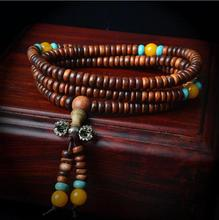 Hot!Vintage Natural Wood Beads Stretch Wooden Bracelet&Bangle Men handmade 216 Buddha Bracelets & Bangle  LQ