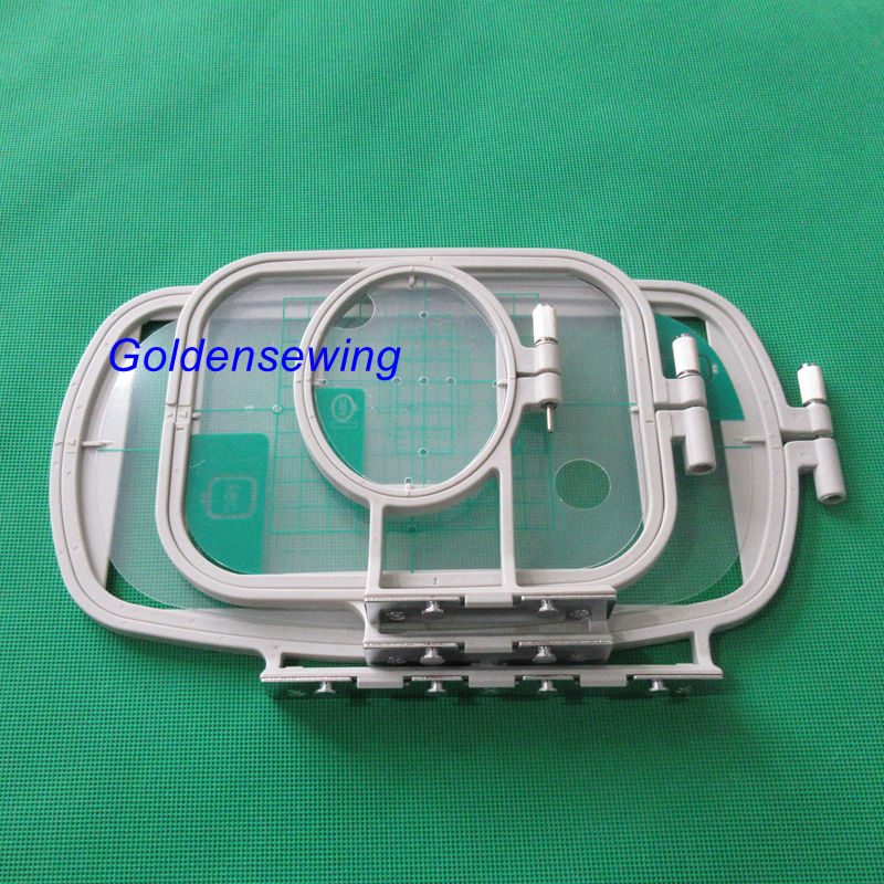 3 Piece Embroidery Hoop Set For Brother SE400 SE425 PE500 Sewing Machine