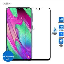 For Samsung Galaxy A40 Full Cover Tempered glass Screen Protector 9h Safety Protective Film on A 40 405F Sm A405F Sm-A405F