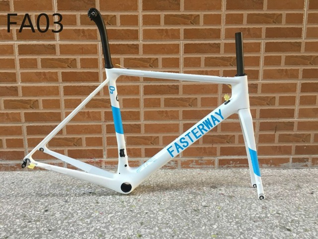 Hot 2018 fasterway brand O2 Blue with white decal carbon road frame:carbon Frame+Seatpost+Fork+Clamp+Headset,ems free shipping