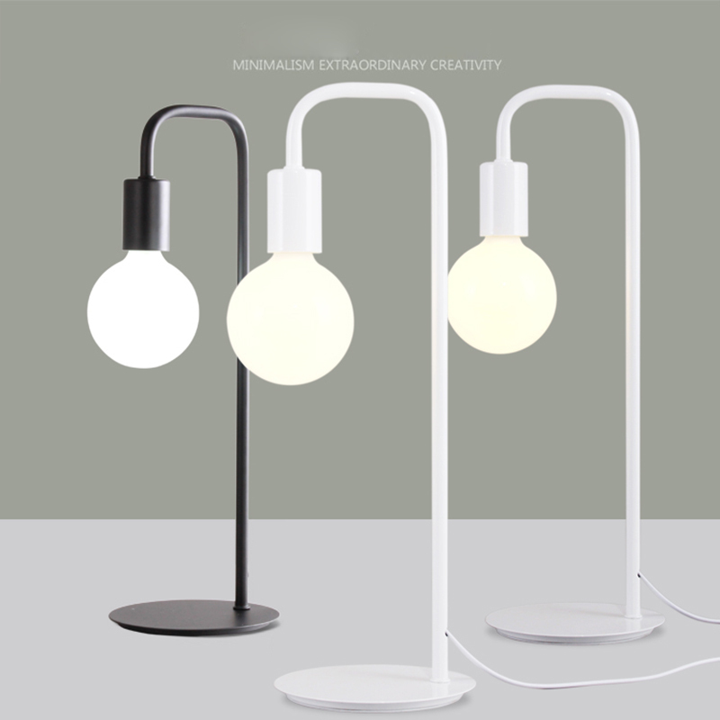 Aliexpress.com : Buy Free shipping Creative desk lamp, work learning simple  metal table lamp with different style bulb from Reliable lamp table lamp ...