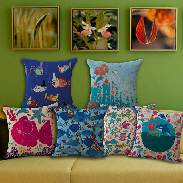 House Decoration Craft Kissing Fish Home Furnishings: Aliexpress.com : Buy Oil Painting Fish Decorative Linen