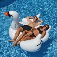 Sommer Heißer verkauf aufblasbaren riesen schwan/Weiß Schwarz schwan pool 60 zoll 1,5 mt Fahrt-Auf Pool Spielzeug Float Aufblasbaren Schwimmring